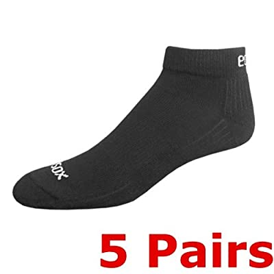 Ecosox Viscose Bamboo Active Sport Low Cut Tab Socks- SET of 5