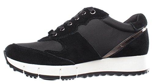 Jo Gigi Sneakers Liu Black Running New Negro Zapatos Mujeres Negre Nylon Cow Suede 02 FwtIEqx