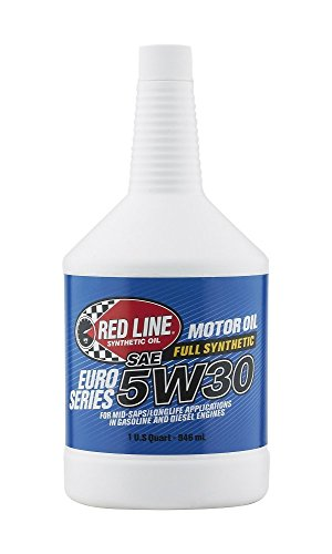 Red Line 12304-12PK Euro-Series 5W30 Oil, 1 quart, 12 Pack by Red Line Oil