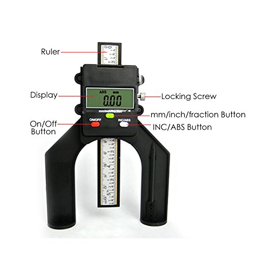 Digital Tread Depth Gauge Magnetic Self Standing Aperture 80mm Hand Routers by Gain Express by Gain Express (Image #5)