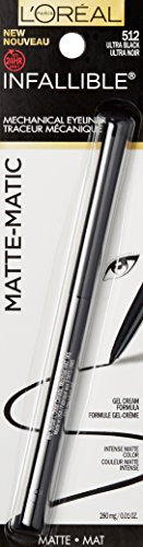 L'Oréal Paris Infallible Matte-Matic Mechanical Eyeliner, Ultra Black, 0.01 oz. (Packaging May Vary)