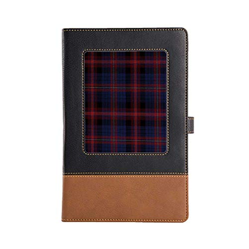 DIY Series Notebooks Checkered Rich Patterns and Various Styles Leather Notebook A5, 8.6 6.1 Inches