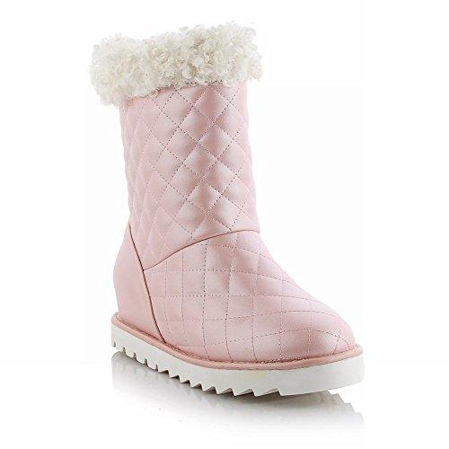 Carolbar Womens Sweet Fashion Carino Regalo Di Natale Bel Inverno Nascosto Tacco Alto Stivali Da Neve Rosa