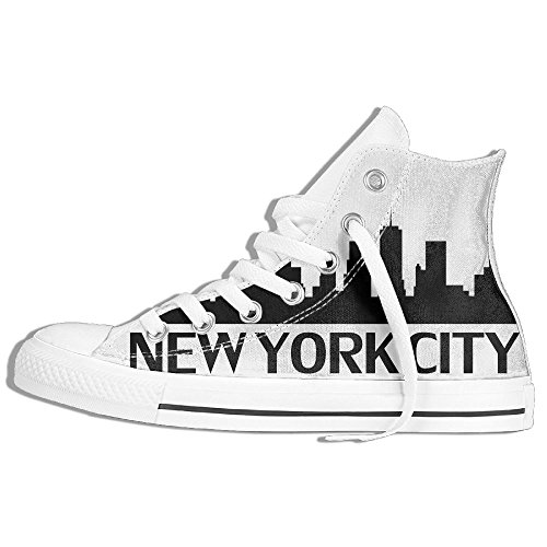 New York City High Top Classic Casual Canvas Fashion Breathability Shoes Personalized -