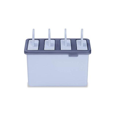 chenqi Moldes para Helados Moldes para paletas de Hielo 4 Barra de Helado Reutilizable para el