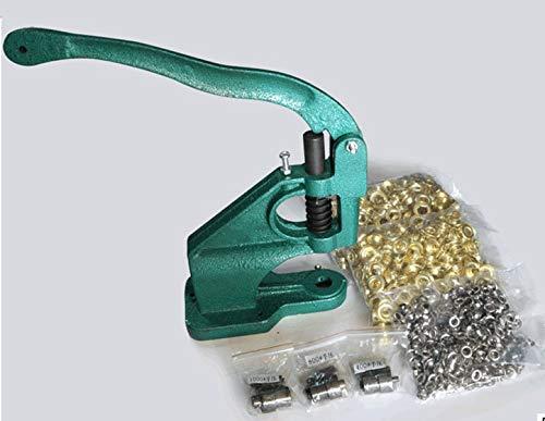 Ochoos Practical Grommet Machine Eyelet Hand Press Machine Tool Punch with 3 Dies & 900 Grommet