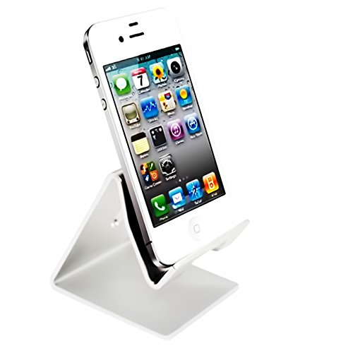 - Desktop Cell Phone Stand Tablet Stand,iBarbe Advanced Aluminum Stand Holder for Mobile Phone (All Size) such as Mobile Phone iPhone X,iPhone 8 6S,7 Plus 5S 6 SE 5C etc.Tablet(Up to 10.1 inch), Silver