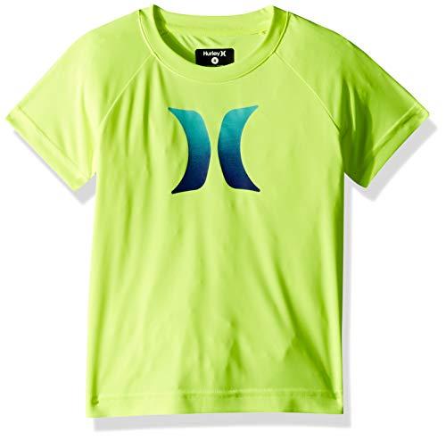 Hurley Little Boys' Rash Guard Shirt, Volt Icon, 6
