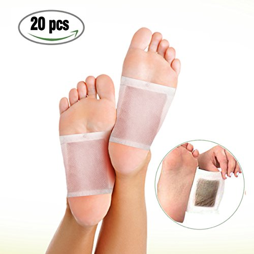 10Pairs Bamboo Vinegar Foot Patch, LuckyFine Relieve Tired Foot Pads ,Foot Care Relaxing Sheet Bamboo Vinegar Foot Patch