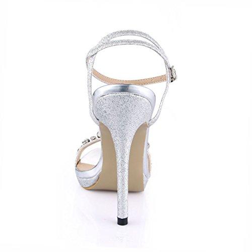 amende Sandales à femmes sables talon nouvelle chaussures l'eau dîner de forage de femme Silver de d'agréable haut marée Chine chaussures annuelle rqwBrgIS