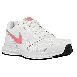 Nike Womens Downshifter 6 White Pink Synthetic Trainers 7 Us