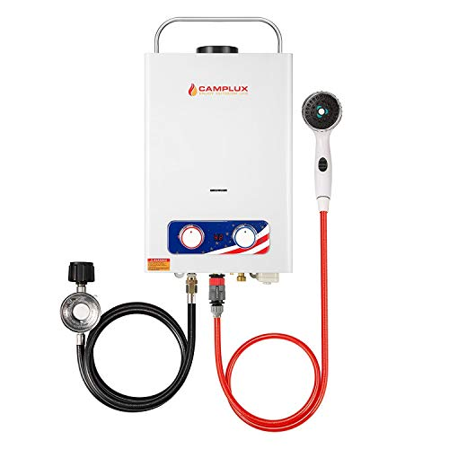 CAMPLUX ENJOY OUTDOOR LIFE BD158 1.58GPM Outdoor Propane Tankless Gas Water Heater