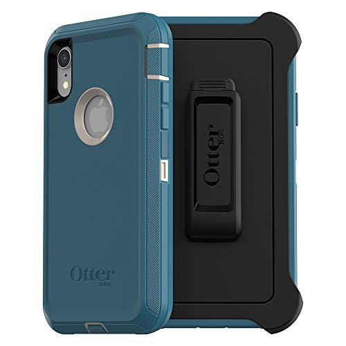OtterBox Defender Series SCREENLESS Edition Case for iPhone Xr - Retail Packaging - Big SUR (Pale Beige/Corsair) (Cases Otterbox Phone)