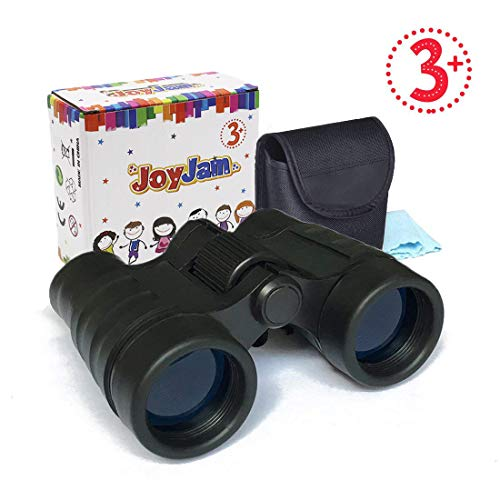 Kids Toys Age 4-9, JoyJam Shock Proof Binoculars for Kids Telescope Children Toys 3-5 Year Old Boys Christmas Thanksgiving Gifts Party Favors for Kids Black