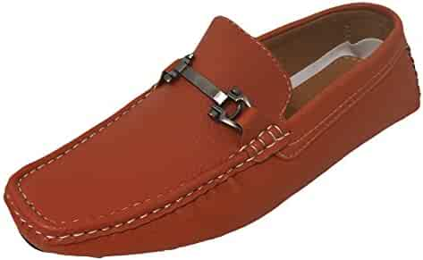 59d47dde970 G4U-Brix GPAYE Men s Driving Moccasins Loafers Casual Moc Toe Metal Buckle  Slip On Boat