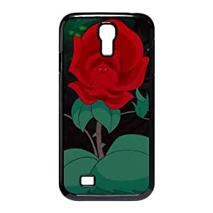 Samsung Galaxy S4 9500 Cell Phone Case Black Alice in Wonderland Character The Rose TY_F07193