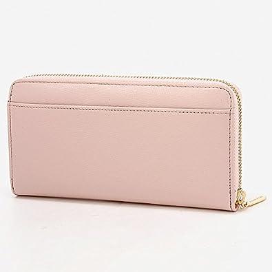 ca32d94af4fd Amazon | ミッシュ・マッシュ(バッグ&ウォレット)(MISCH MASCH) 財布(牛革角シボ、リボンブローチラウンドナガサイフ)【ピンク/**】  | レディースバッグ・財布