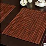 Generic 2pcs Generic Leather PU Table Mat Double Side Can Use Hot Kitchen Decoration Placemat Coffee Coasters