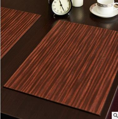 New 2pcs New Leather PU Table Mat Double Side Can Use Hot Kitchen Decoration Placemat Coffee Coasters Cinnamon by Generic