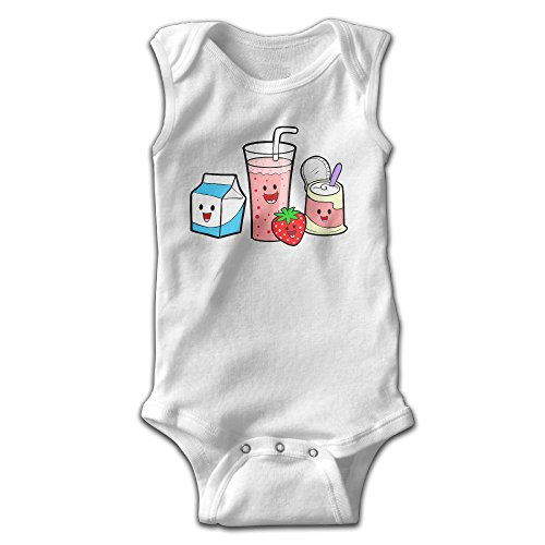 [PanDo Infants Boy's & Girl's Food Short Sleeve Bodysuit Outfits For 0-24 Months White 18 Months] (Toddler Conductor Outfit)