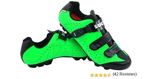 LUCK Zapatillas de Ciclismo MTB ODÍN con Suela de Carbono y Cierre milimétrico de precisión. (48 EU, Verde): Amazon.es: Deportes y aire libre