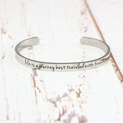 Awegift Bangle Bracelet Friendship Jewelry Engraved Personalized Handmade Silver