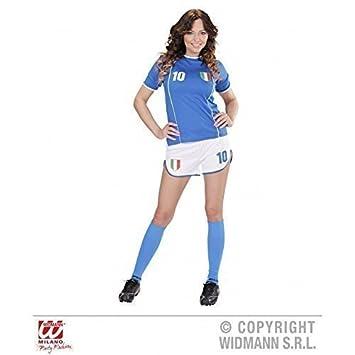 lively moments Traje fubolista ITALIA/Italiano Camiseta de fútbol/Disfraz de aficionado/Merchandising