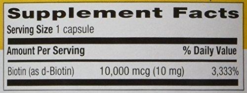 Country Life - Biotin High Potency, 10 mg - 120 Vegan Capsules