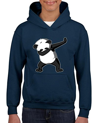 Xekia Dancing Panda Birthday Gifts Fashion People Couples Gifts Best Friend Gifts Unisex Hoodie For Girls and Boys Youth Kids Sweatshirt Clothing Medium Navy Blue -