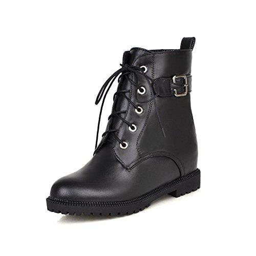 Allhqfashion Chaussures À Talons Hauts En Cuir Doux Matelassé Noir