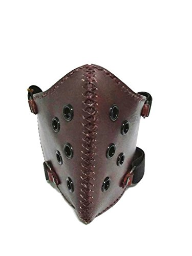 Motorcycle Face Mask,Biker Chopper Touring Mask, Leather Face Mask,Race Kill rk4 (brown)