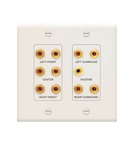 Legrand/ON Q – F9004LA, 5.1 Home Theater Connection Kit, Light - Plate Almond Connector