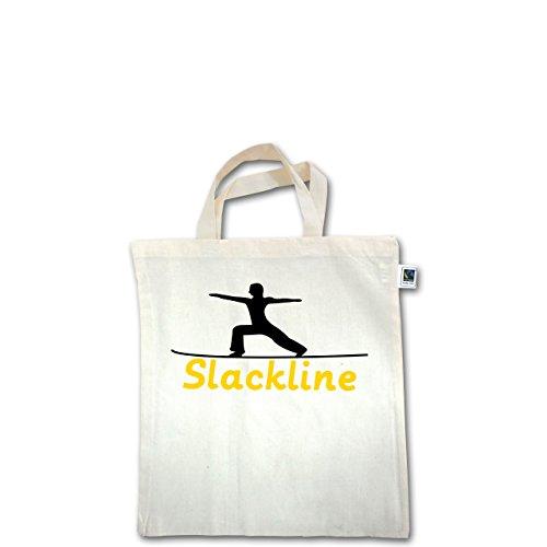 Sonstige Sportarten - Slacklinen - Unisize - Natural - XT500 - Fairtrade Henkeltasche / Jutebeutel mit kurzen Henkeln aus Bio-Baumwolle