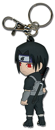 Great Eastern Entertainment Naruto Itachi in Fighting Gear PVC Keychain
