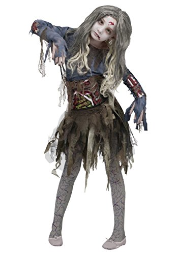 Zombie Bride Halloween Outfits (Girls Zombie Costume X-Large)