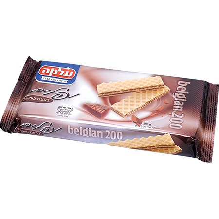 Alma Wafers Belgian 200 Filled With Chocolate Flavored Cream 7 Oz. Pk Of (Cream Belgian Chocolate Cookies)