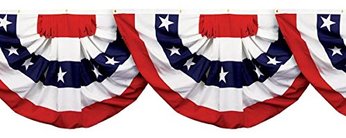 Amscan Scene Setters Patriotic Party Bunting Border Roll, 6 Ct.