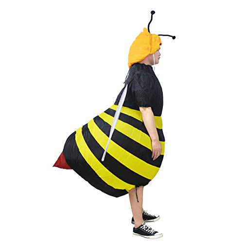JYZCOS Inflatable Bumble Bee Costume Adult Blow up Halloween Fancy Dress -