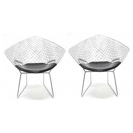Amazon.com: lemoderno Bertoia alambre silla de diamantes ...