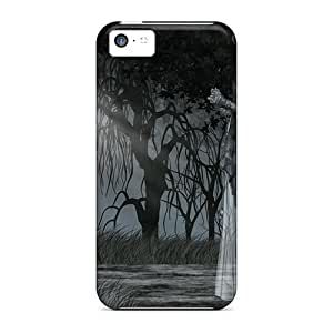 Durable Defender Case For Iphone 5c Tpu Cover(sombras En El Bosque)