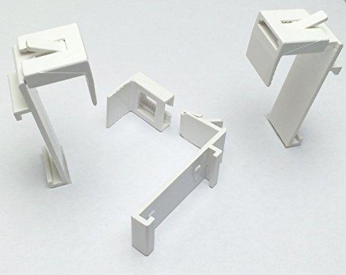 KLEMMFLEX Klemmträger für DUO-Rollo, Rollo ~ OHNE BOHREN ~ je 2 Stück ~ verstellbar ~ für Fenster Rahmenstärke von 1,5 cm bis 2 cm ~ Farbe: weiss