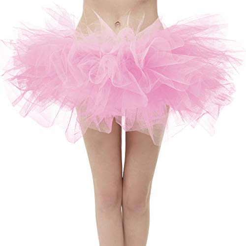 Topdress Layered Tulle Tutu Skirts Pink Plus Sizing]()
