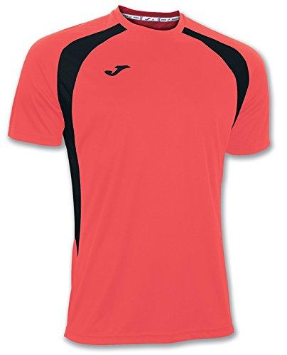 Camiseta de equipación de manga corta para hombre de color coral flúor