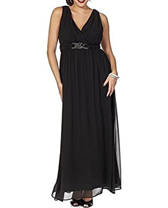 Kleid schwarz lang 46