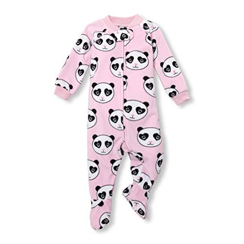 (The Children's Place Girls Baby Printed Blanket Sleeper, LTBUBBLGUM, 18-24MONTH )