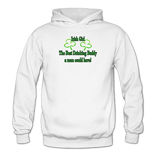 Irish Girl The Best Drinking Buddy Womans Sporty Pullover Cool Hoodies