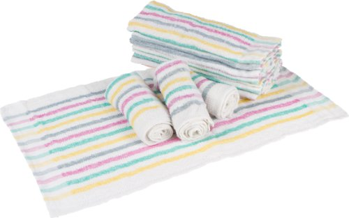 Phoenix Terry Towel, 12-Pack, 15 by 25, Multi-Color - Commercial Grade Bakers Tabletop