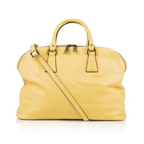 Amarillo Piel Estilo De Otra 71070 Bolso Mujer Bolera myitalianbag Para HqUzPBw1