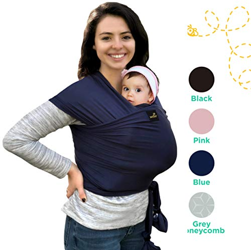 Moby Wrap Baby Carrier - Lightweight My Honey Wrap - Natural and Breathable Baby Carrier Sling for Infants and Babies - 4 Color Options