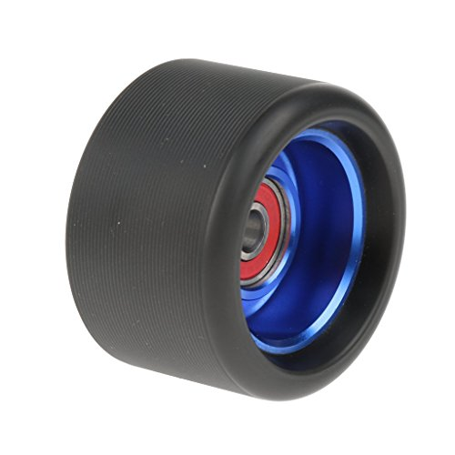 - Baoblaze 90A Indoor Outdoor Quad Roller Skate Wheel with Bearing PU Aluminum Alloy Durable High Elasticity Wheel for Skates Repair Kit - Blue Black, 62x40mm